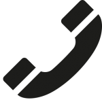 téléphone noir droite