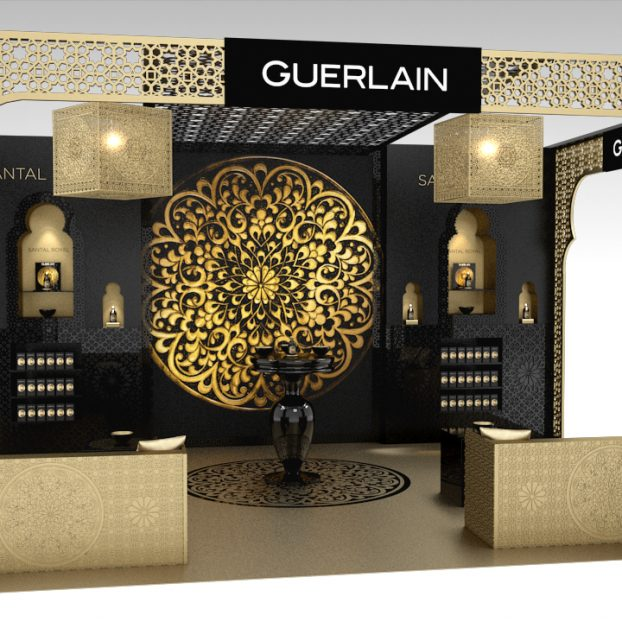 Stand Design GUERLAIN Santal Royal 3D