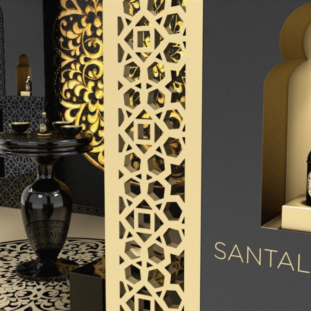 Visual merchandiser GUERLAIN Santal Royal 3D