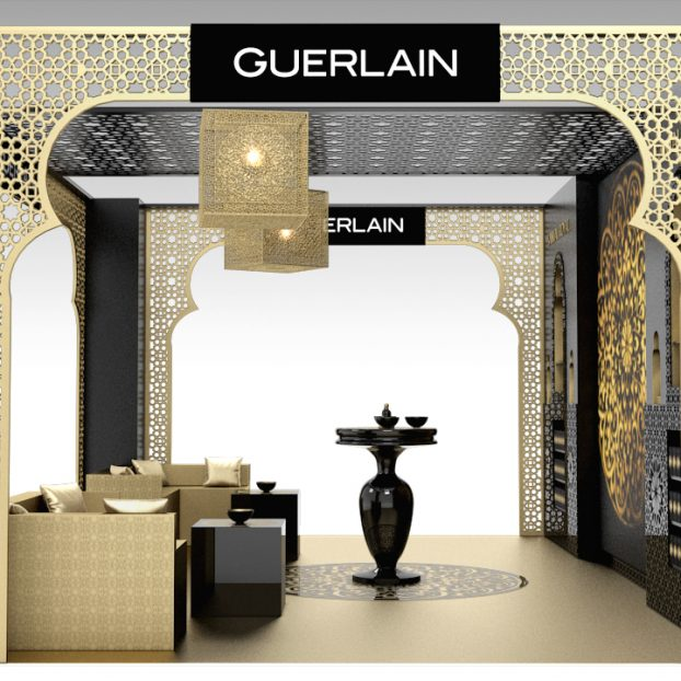 Visual Merchandising GUERLAIN Santal Royal 3D