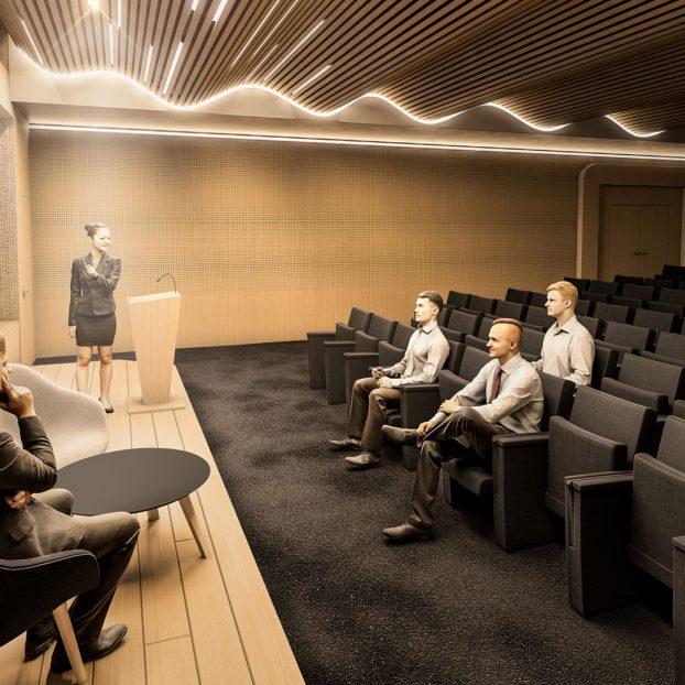 Perspective 3D Auditorium Plastic Omnium