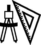 compas et regle noir pour architecte