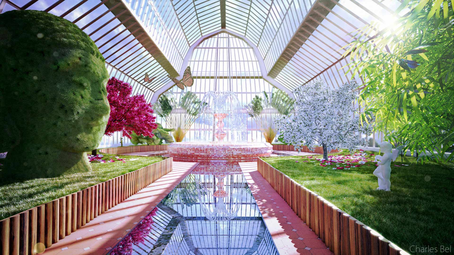 Jardin Image Synthese