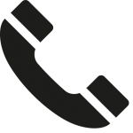 téléphone noir gauche